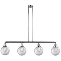 Innovations Lighting 214-PC-G202-8 Large Beacon 4 Light 53 inch Polished Chrome Island Light Ceiling Light Franklin Restoration