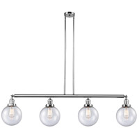 Innovations Lighting 214-PC-G204-8 Large Beacon 4 Light 53 inch Polished Chrome Island Light Ceiling Light Franklin Restoration