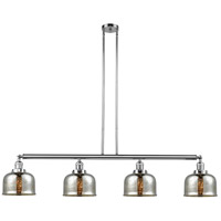 Innovations Lighting 214-PC-G78 Large Bell 4 Light 53 inch Polished Chrome Island Light Ceiling Light Franklin Restoration