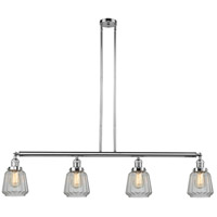 Innovations Lighting 214-PC-S-G142 Chatham 4 Light 51 inch Polished Chrome Island Light Ceiling Light, Adjustable