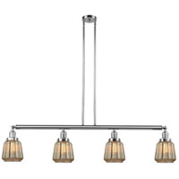 Innovations Lighting 214-PC-S-G146 Chatham 4 Light 51 inch Polished Chrome Island Light Ceiling Light, Adjustable