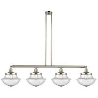 Innovations Lighting 214-PN-G544 Large Oxford 4 Light 54 inch Polished Nickel Island Light Ceiling Light Franklin Restoration