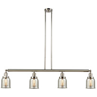Innovations Lighting 214-PN-G58 Small Bell 4 Light 50 inch Polished Nickel Island Light Ceiling Light Franklin Restoration