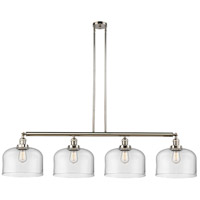 Innovations Lighting 214-PN-G72-L X-Large Bell 4 Light 54 inch Polished Nickel Island Light Ceiling Light Franklin Restoration