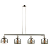 Innovations Lighting 214-PN-G78 Large Bell 4 Light 53 inch Polished Nickel Island Light Ceiling Light Franklin Restoration