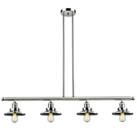 Innovations Lighting 214-PN-S-M1-LED Railroad LED 53 inch Polished Nickel Island Light Ceiling Light Adjustable
