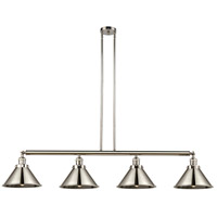 Innovations Lighting 214-PN-M10-PN Briarcliff 4 Light 55 inch Polished Nickel Island Light Ceiling Light Franklin Restoration