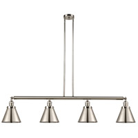 Innovations Lighting 214-PN-M13-PN Appalachian 4 Light 52 inch Polished Nickel Island Light Ceiling Light Franklin Restoration