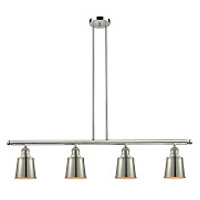 Innovations Lighting 214-PN-S-M9-LED Addison LED 50 inch Polished Nickel Island Light Ceiling Light Adjustable