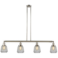 Innovations Lighting 214-PN-S-G142 Chatham 4 Light 51 inch Polished Nickel Island Light Ceiling Light, Adjustable