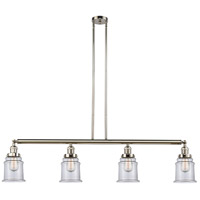 Innovations Lighting 214-PN-S-G182-LED Canton LED 51 inch Polished Nickel Island Light Ceiling Light Adjustable
