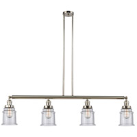 Innovations Lighting 214-PN-S-G184-LED Canton LED 51 inch Polished Nickel Island Light Ceiling Light Adjustable