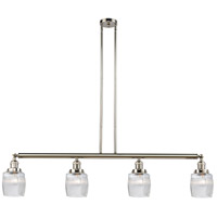 Innovations Lighting 214-PN-S-G302-LED Colton LED 50 inch Polished Nickel Island Light Ceiling Light Adjustable