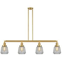 Innovations Lighting 214-SG-G142-LED Chatham LED 51 inch Satin Gold Island Light Ceiling Light Franklin Restoration