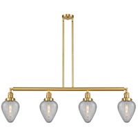 Innovations Lighting 214-SG-G165-LED Geneseo LED 52 inch Satin Gold Island Light Ceiling Light Franklin Restoration
