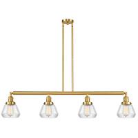 Innovations Lighting 214-SG-G172 Fulton 4 Light 51 inch Satin Gold Island Light Ceiling Light Franklin Restoration