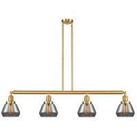 Innovations Lighting 214-SG-G173 Fulton 4 Light 51 inch Satin Gold Island Light Ceiling Light Franklin Restoration
