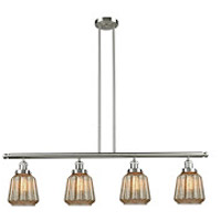 Chatham 4 Light 48 inch Brushed Satin Nickel Island Light Ceiling Light