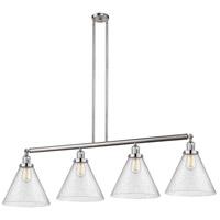 Innovations Lighting 214-SN-G44-L X-Large Cone 4 Light 56 inch Satin Nickel Island Light Ceiling Light Franklin Restoration