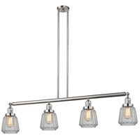 Innovations Lighting 214-SN-S-G142 Chatham 4 Light 51 inch Brushed Satin Nickel Island Light Ceiling Light Adjustable