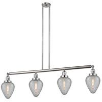 Innovations Lighting 214-SN-S-G165-LED Geneseo LED 52 inch Satin Nickel Island Light Ceiling Light Franklin Restoration