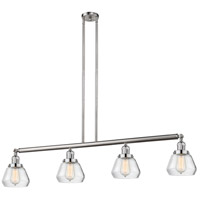 Innovations Lighting 214-SN-S-G172 Fulton 4 Light 51 inch Brushed Satin Nickel Island Light Ceiling Light Adjustable