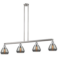 Innovations Lighting 214-SN-S-G173 Fulton 4 Light 51 inch Brushed Satin Nickel Island Light Ceiling Light Adjustable