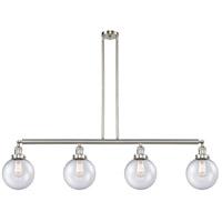 Innovations Lighting 214-SN-S-G204-8-LED Large Beacon LED 53 inch Satin Nickel Island Light Ceiling Light Franklin Restoration
