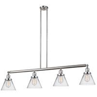 Innovations Lighting 214-SN-S-G42-LED Large Cone LED 52 inch Brushed Satin Nickel Island Light Ceiling Light Franklin Restoration