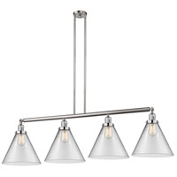 Innovations Lighting 214-SN-S-G42-L X-Large Cone 4 Light 56 inch Brushed Satin Nickel Island Light Ceiling Light Franklin Restoration
