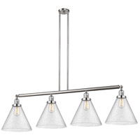 Innovations Lighting 214-SN-S-G44-L X-Large Cone 4 Light 56 inch Brushed Satin Nickel Island Light Ceiling Light Franklin Restoration
