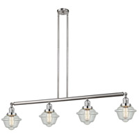 Innovations Lighting 214-SN-S-G534-LED Small Oxford LED 52 inch Brushed Satin Nickel Island Light Ceiling Light Franklin Restoration