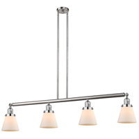 Innovations Lighting 214-SN-S-G61 Small Cone 4 Light 51 inch Brushed Satin Nickel Island Light Ceiling Light Adjustable