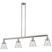 Innovations Lighting 214-SN-S-G62-LED Small Cone LED 51 inch Brushed Satin Nickel Island Light Ceiling Light Franklin Restoration