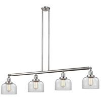 Innovations Lighting 214-SN-S-G72-LED Large Bell LED 53 inch Satin Nickel Island Light Ceiling Light Franklin Restoration
