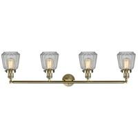 Innovations Lighting 215-BB-S-G142 Chatham 4 Light 42 inch Brushed Brass Bath Vanity Light Wall Light, Franklin Restoration