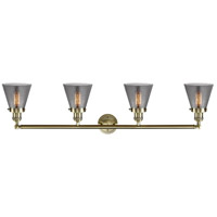 Innovations Lighting 215-BB-S-G63-LED Small Cone LED 42 inch Brushed Brass Bath Vanity Light Wall Light, Franklin Restoration