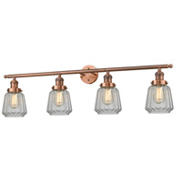 Chatham 4 Light 42 inch Antique Copper Vanity Light Wall Light