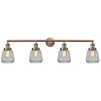 Innovations Lighting 215-AC-G142-LED Chatham LED 42 inch Antique Copper Bath Vanity Light Wall Light Franklin Restoration