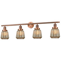 Innovations Lighting 215-AC-G146-LED Chatham LED 42 inch Antique Copper Bath Vanity Light Wall Light Franklin Restoration