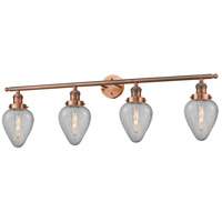 Innovations Lighting 215-AC-G165-LED Geneseo LED 43 inch Antique Copper Bath Vanity Light Wall Light Franklin Restoration