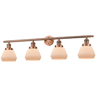 Fulton 4 Light 42 inch Antique Copper Vanity Light Wall Light