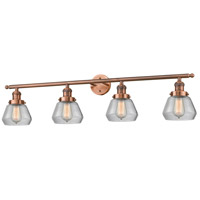 Innovations Lighting 215-AC-G172-LED Fulton LED 43 inch Antique Copper Bath Vanity Light Wall Light Franklin Restoration