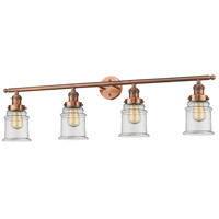Innovations Lighting 215-AC-G182-LED Canton LED 42 inch Antique Copper Bath Vanity Light Wall Light Franklin Restoration