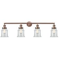 Innovations Lighting 215-AC-G182-LED Canton LED 42 inch Antique Copper Bath Vanity Light Wall Light Franklin Restoration