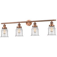 Innovations Lighting 215-AC-G184-LED Canton LED 42 inch Antique Copper Bath Vanity Light Wall Light Franklin Restoration