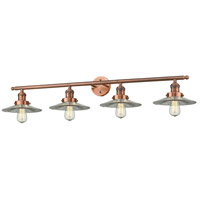 Halophane 4 Light 42 inch Antique Copper Vanity Light Wall Light