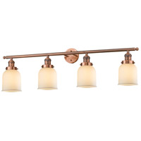 Small Bell 4 Light 42 inch Antique Copper Vanity Light Wall Light