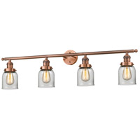 Innovations Lighting 215-AC-G52 Small Bell 4 Light 42 inch Antique Copper Bath Vanity Light Wall Light, Franklin Restoration photo thumbnail