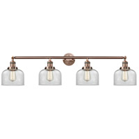 Innovations Lighting 215-AC-G72-LED Large Bell LED 44 inch Antique Copper Bath Vanity Light Wall Light Franklin Restoration